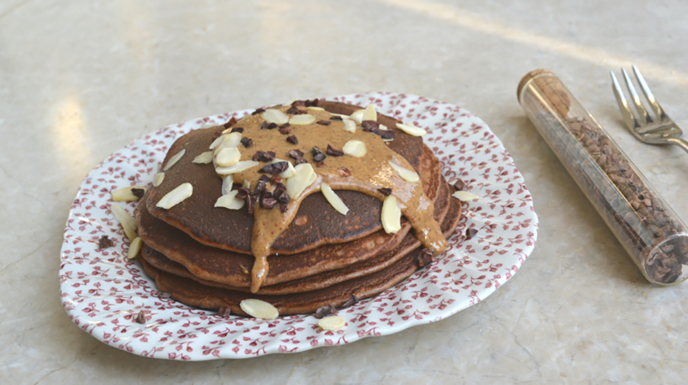 A Chocolate Protein Pancake Recipe For People Who Train Hard On Pancake Day