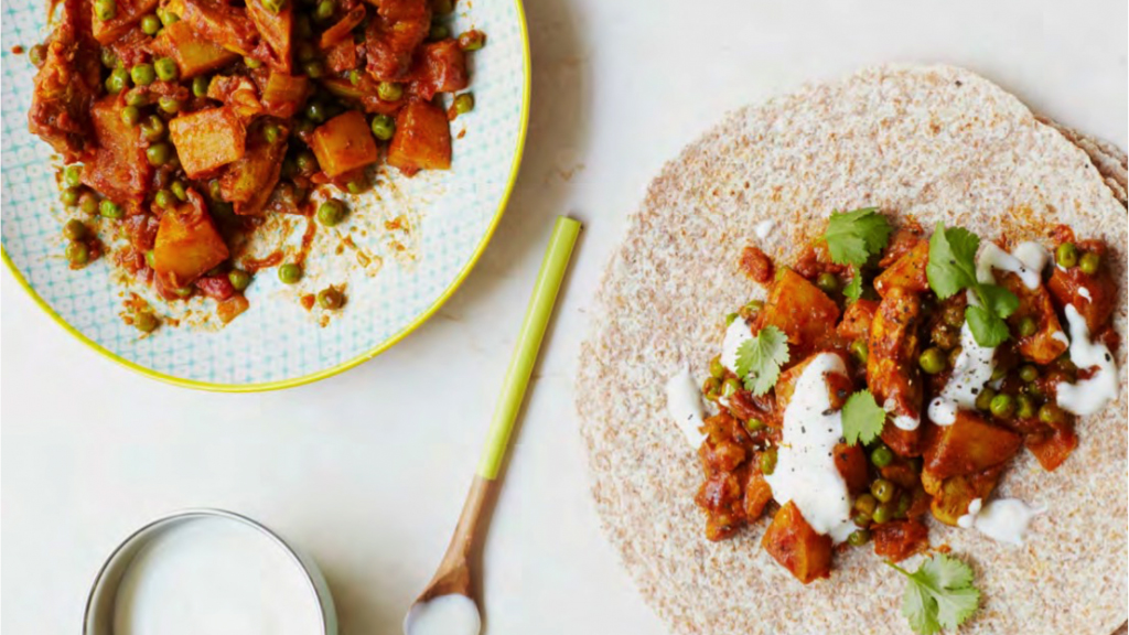 This Bombay Potato And Chicken Wraps Recipe Is Certified Heart Healthy
